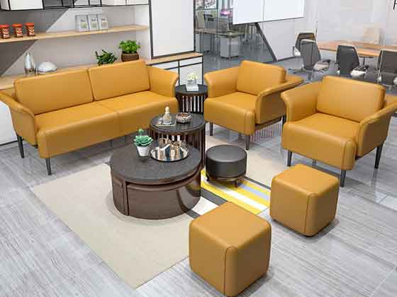 办公沙发茶几组合-沙发定制厂家-品源办公沙发