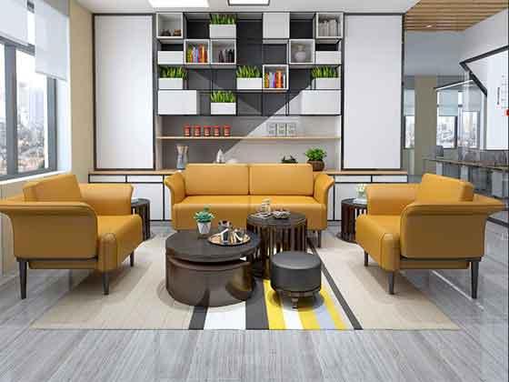 现代简约真皮沙发-沙发厂家-品源办公沙发