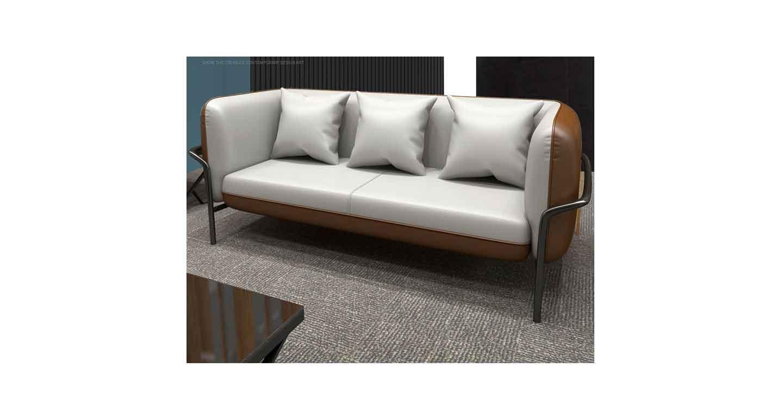 真皮办公室沙发茶几-办公沙发-品源办公沙发