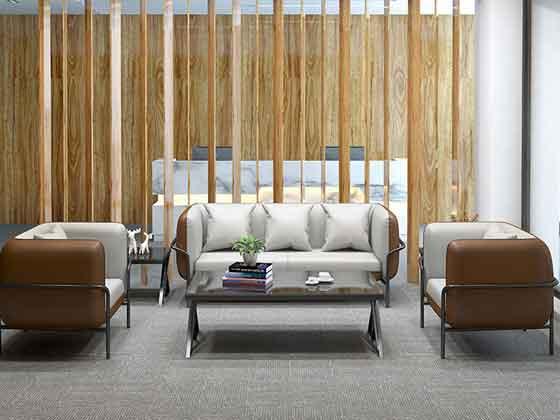 真皮办公室沙发茶几-办公室沙发-品源办公沙发