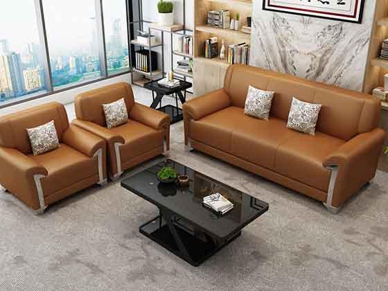 上海商务真皮沙发-办公室沙发-品源办公沙发
