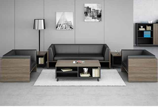 现代真皮办公沙发 科技感沙发 真