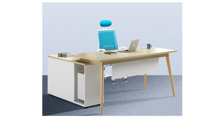 钢木结合办公桌-班台-品源班台
