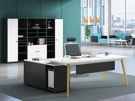 实木金属办公桌-班台尺寸-品源班台