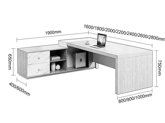 主管办公桌尺寸-班台-品源班台