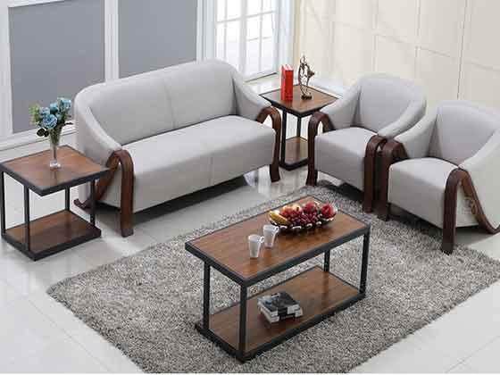 沙发整体实木框架-办公沙发-品源办公沙发
