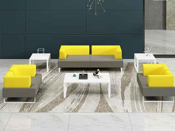 简约商务办公沙发-办公室沙发-品源办公沙发