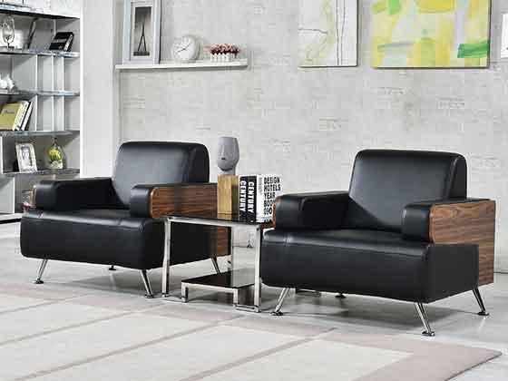现代中式办公木沙发-办公沙发-品源办公沙发
