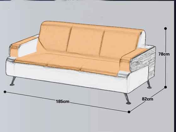 现代中式办公木沙发尺寸-办公沙发-品源沙发