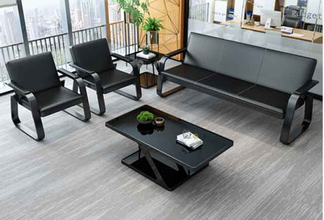 棕色办公沙发 高档商务沙发