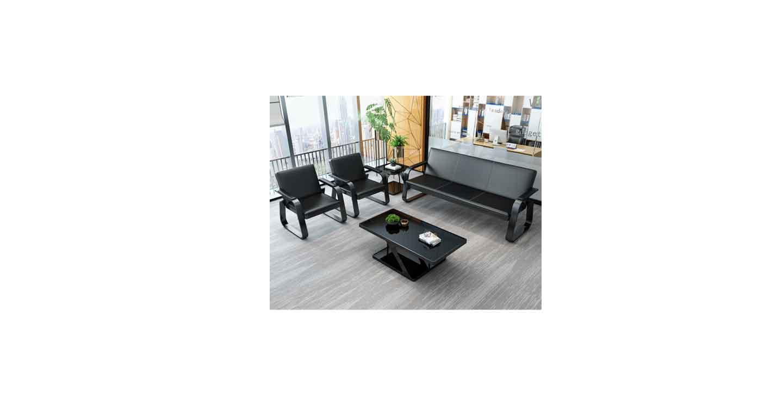 棕色办公沙发-办公沙发-品源办公沙发