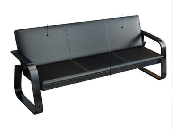 棕色办公沙发-沙发厂家-品源办公沙发