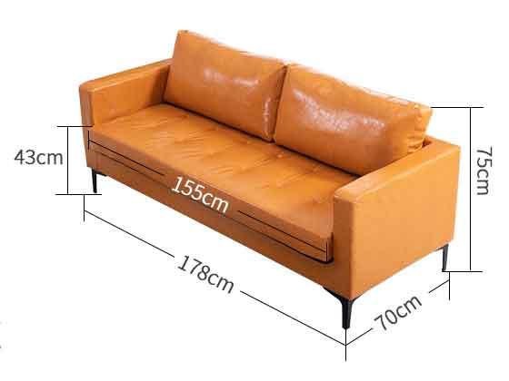 写字楼大堂沙发尺寸-办公沙发-品源沙发
