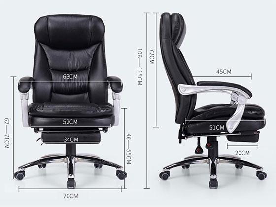 总裁椅老板椅尺寸-品源老板椅