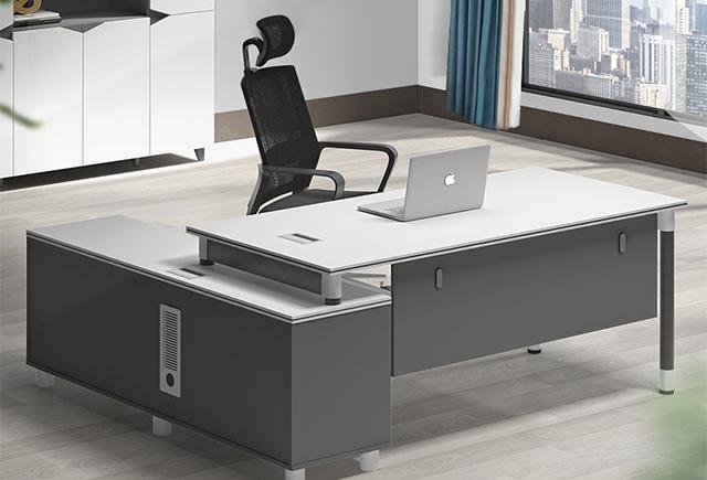钢架实木办公桌_钢架办公桌_钢架办公桌工厂