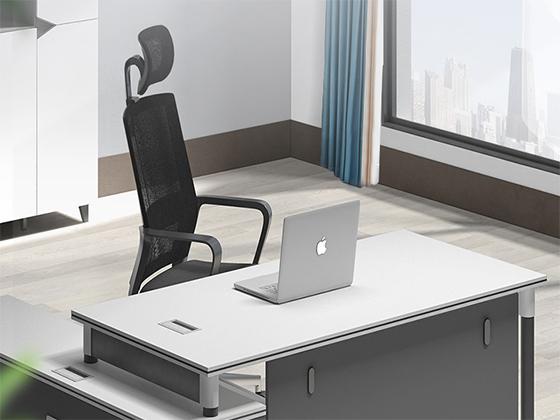 钢架实木办公桌-班台-品源班台
