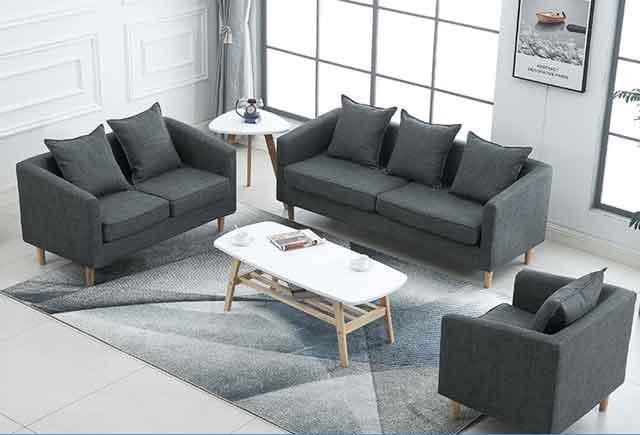 商用办公沙发 贵宾室单人沙发 商务沙发茶几 BYSF004
