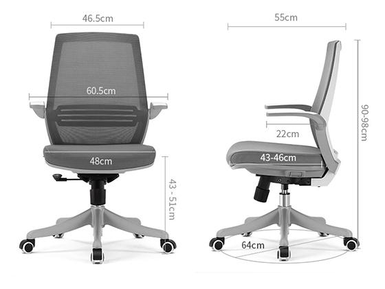 高档办公椅尺寸-品源办公椅