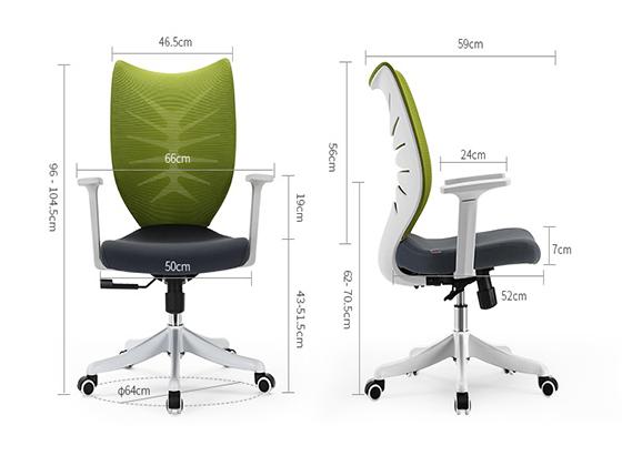 时尚工作椅尺寸-品源办公椅