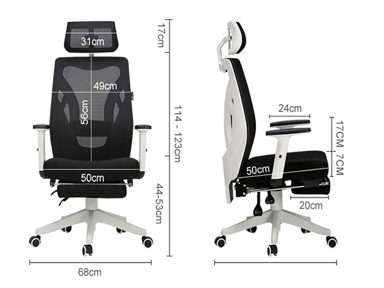 办公室靠背椅尺寸-品源办公椅