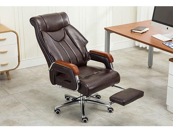 牛皮升降椅人体工学-品源老板椅