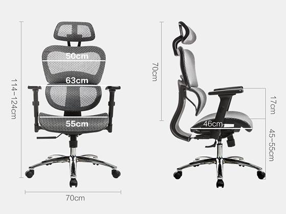 单位前台椅子尺寸-品源办公椅