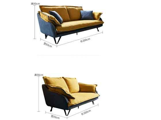展会沙发尺寸-办公沙发-品源沙发