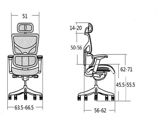 上班座椅尺寸-品源办公椅