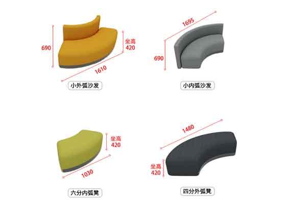 早教中心沙发尺寸-办公沙发-品源沙发