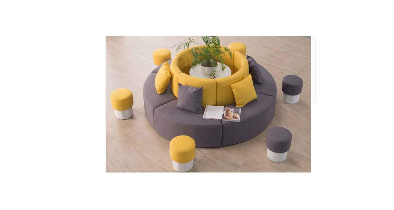 异型转角沙发-办公沙发-品源办公沙发