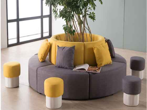 异形转角沙发尺寸-办公沙发-品源办公沙发