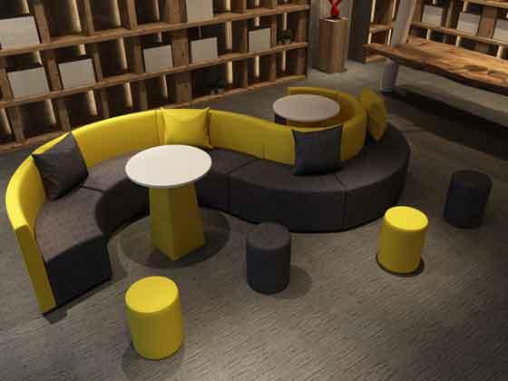 异形转角沙发尺寸-沙发定制厂家-品源办公沙发