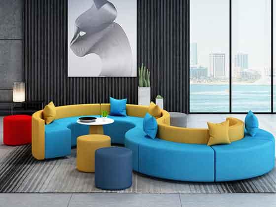 异型转角沙发-沙发厂家-品源办公沙发