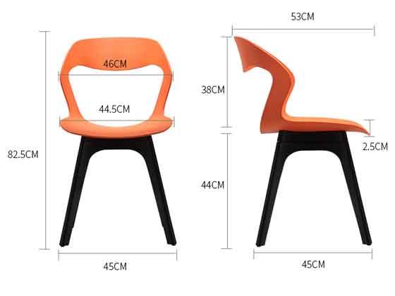 学校会议椅尺寸-品源会议椅