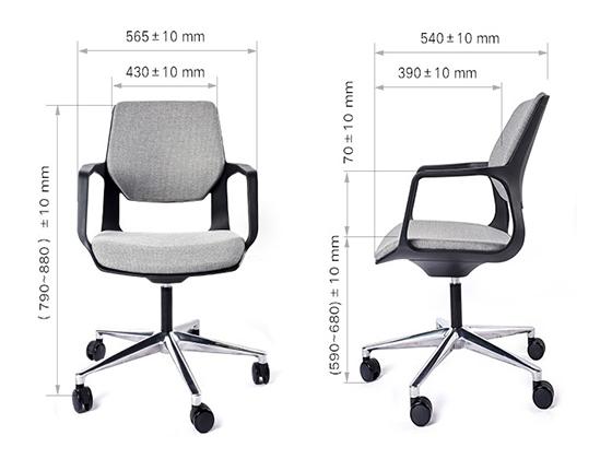 办公家具座椅尺寸-品源办公椅