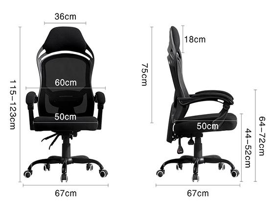 上海办公室电脑转椅尺寸-品源办公椅