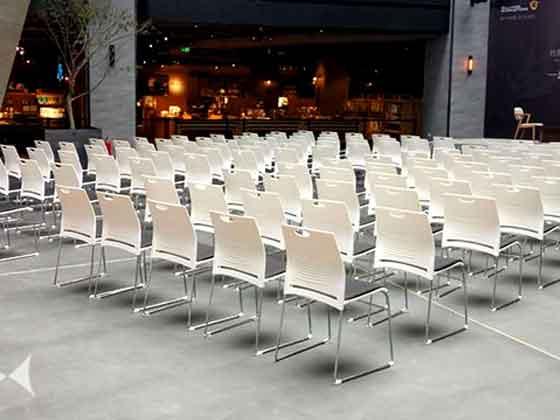 新款舒适弓形椅-品源会议椅