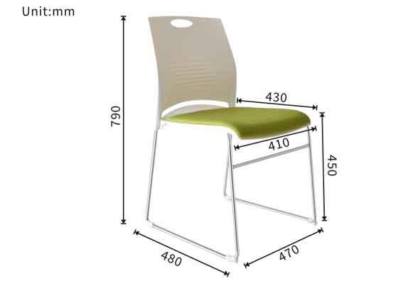 新款舒适弓形椅尺寸-品源会议椅