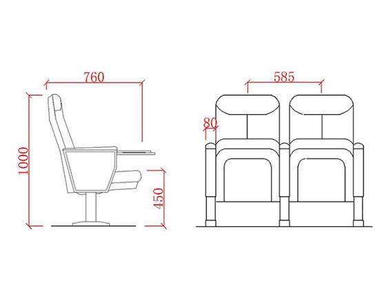 上海礼堂坐椅厂家尺寸-品源礼堂椅