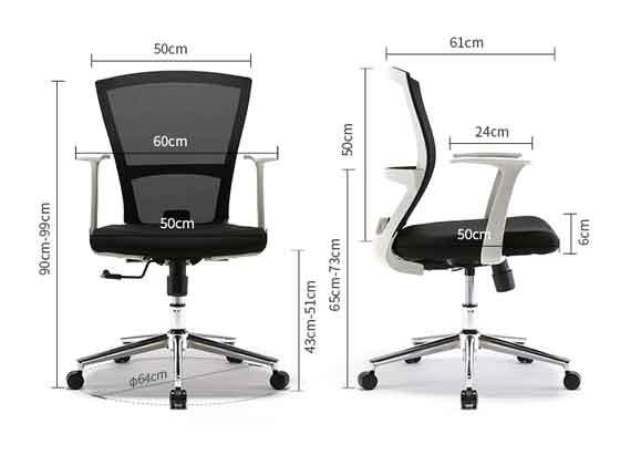 网椅厂家尺寸-品源会议椅