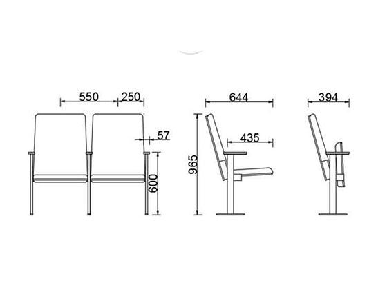 演讲厅座椅尺寸-品源礼堂椅
