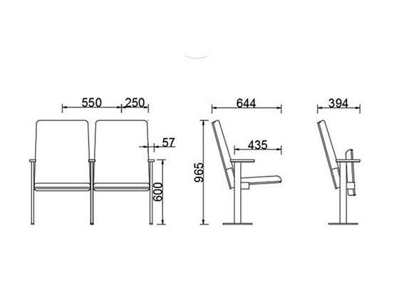 上海音乐厅椅子尺寸-品源礼堂椅