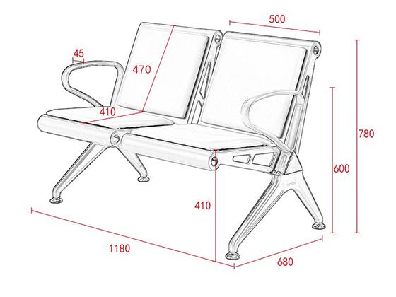 机场等待椅尺寸-品源等候椅