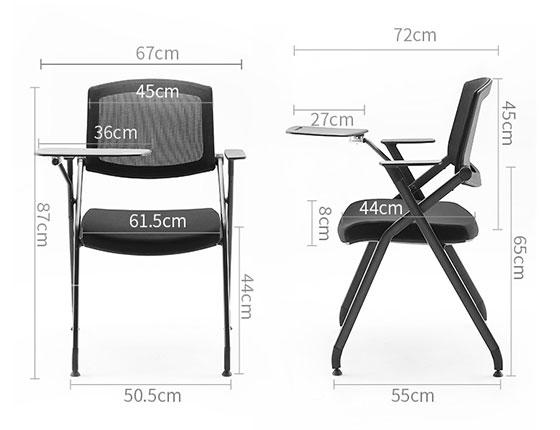 培训室椅子尺寸-品源培训椅