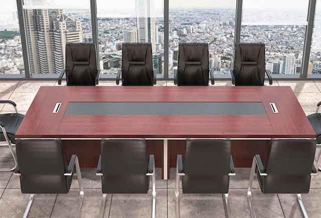 大型实木贴皮会议桌 条桌木皮烤漆会议桌 SHYZ008