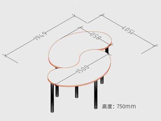 现代时尚大型会议桌尺寸-会议桌-品源会议桌