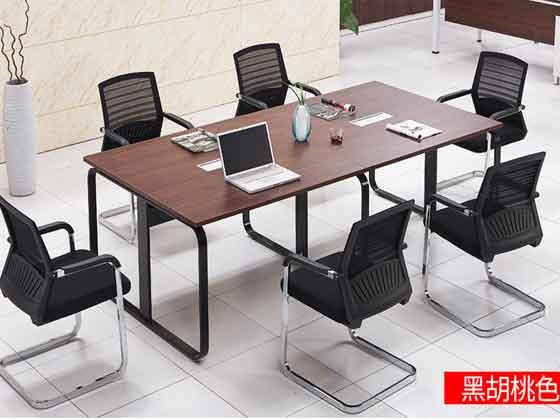 6人位会议桌-会议桌尺寸-品源会议桌