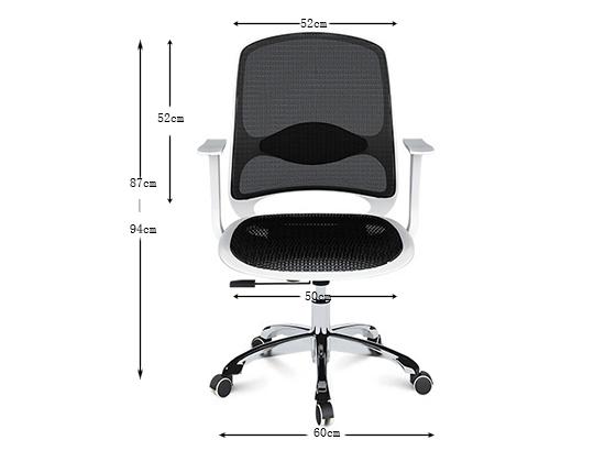 弓形椅尺寸-品源办公椅