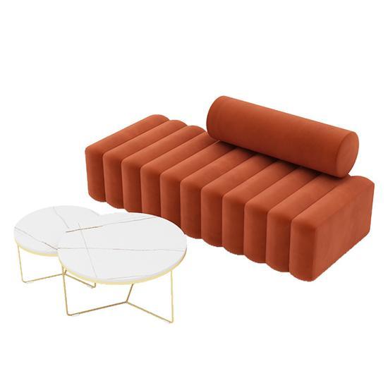 大厅休闲区沙发 长条沙发接待