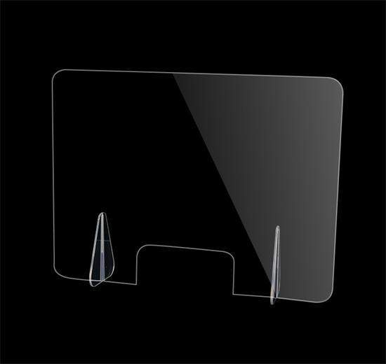 亚克力桌上屏风隔板 透明屏风挡板格挡防护